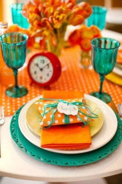 Awesome Teal Color Scheme For Fall Decor Ideas06