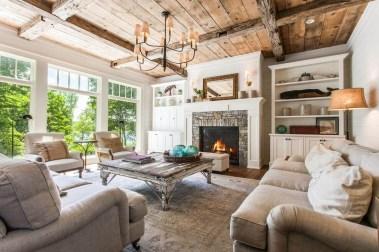 Inspiring Rustic Livingroom Decorations Home13