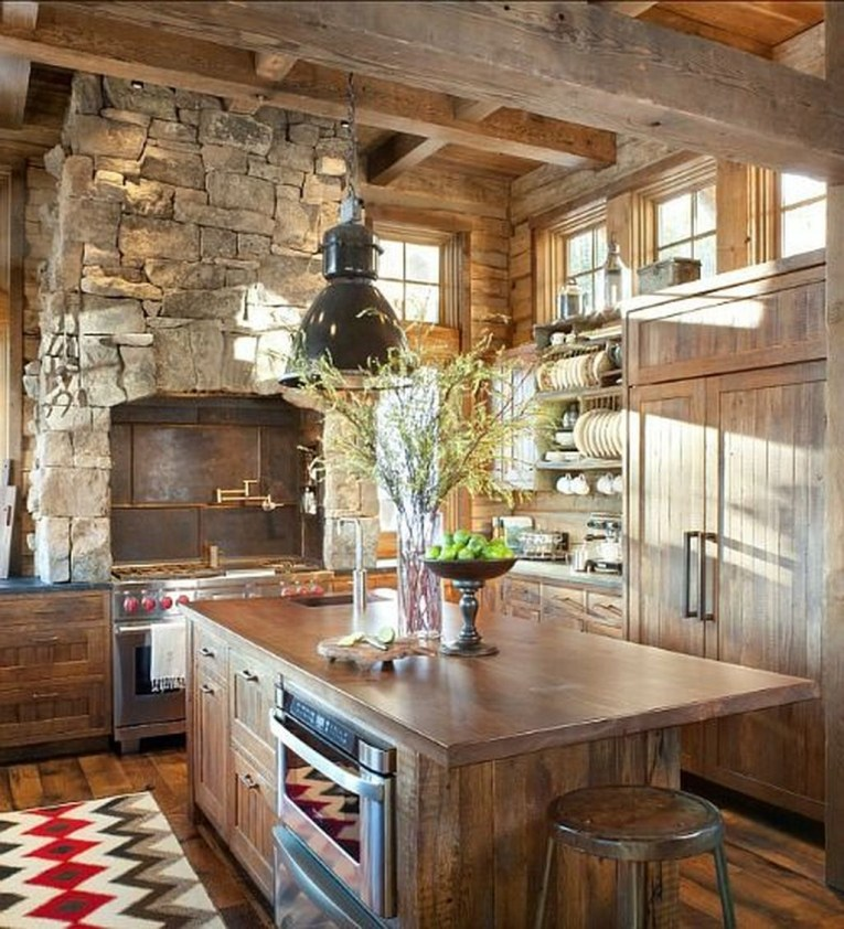 Lovely Rustic Western Style Kitchen Decorations Ideas 34