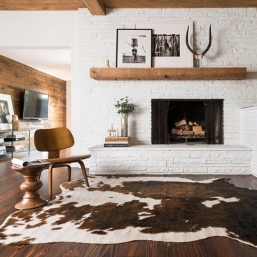 Rustic Brick Fireplace Living Rooms Decorations Ideas10