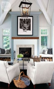 Rustic Brick Fireplace Living Rooms Decorations Ideas17