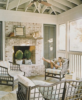 Rustic Brick Fireplace Living Rooms Decorations Ideas35