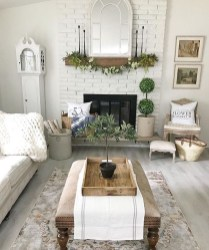 Rustic Brick Fireplace Living Rooms Decorations Ideas41