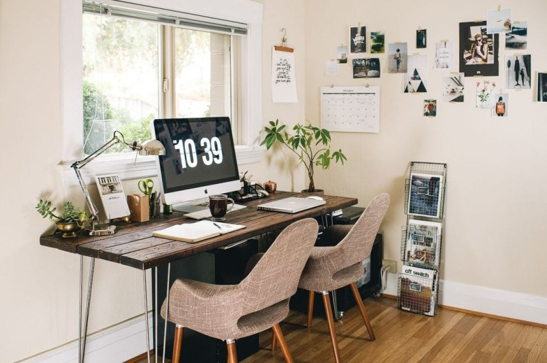 Simple Desk Workspace Design Ideas 09
