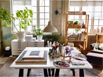 Simple Desk Workspace Design Ideas 15