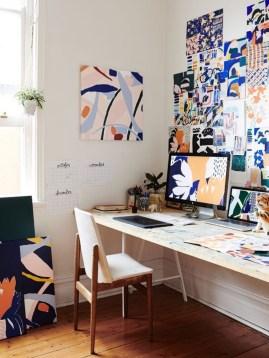 Simple Desk Workspace Design Ideas 21