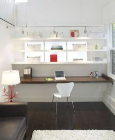 Simple Desk Workspace Design Ideas 25