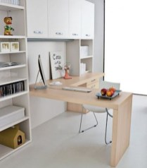 Simple Desk Workspace Design Ideas 31