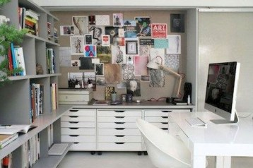 Simple Desk Workspace Design Ideas 33