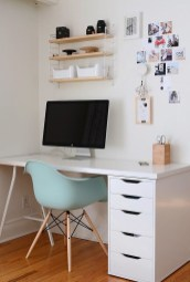 Simple Desk Workspace Design Ideas 44