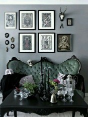 Attractive Diy Halloween Living Room Decoration Ideas14