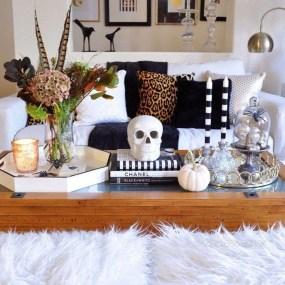 Attractive Diy Halloween Living Room Decoration Ideas23