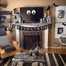 Attractive Diy Halloween Living Room Decoration Ideas32