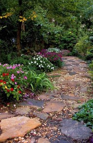 Awesome Diy Garden Path Inspiration Ideas16