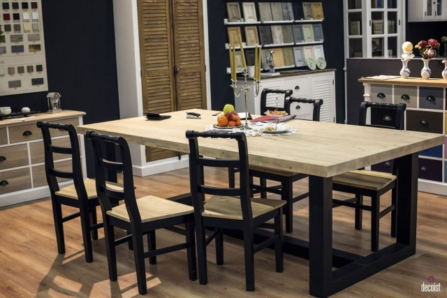 Creative Wooden Dining Tables Design Ideas09