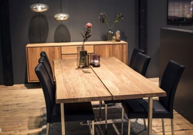 Creative Wooden Dining Tables Design Ideas36