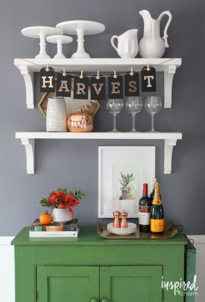 Lovely Fall Emerald Home Decoration Ideas22