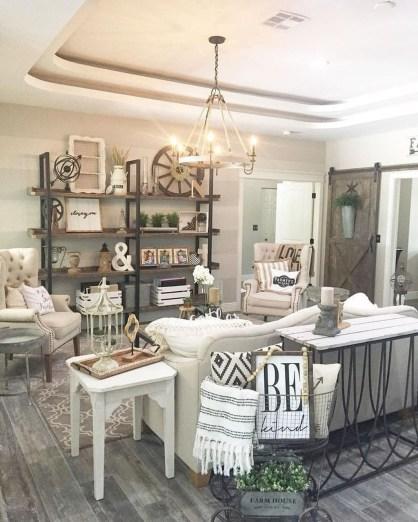 Modern Chic Farmhouse Living Room Design Decor Ideas Home01