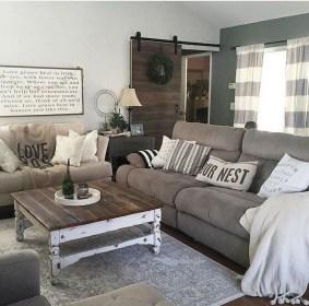 Modern Chic Farmhouse Living Room Design Decor Ideas Home38