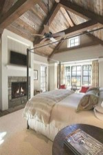 Romantic Rustic Farmhouse Bedroom Design And Decorations Ideas19