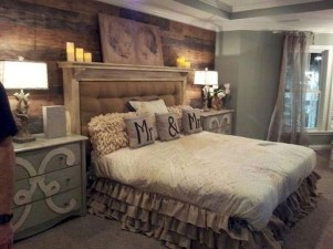 Romantic Rustic Farmhouse Bedroom Design And Decorations Ideas22