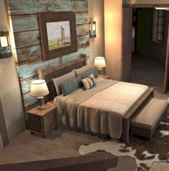 Romantic Rustic Farmhouse Bedroom Design And Decorations Ideas33