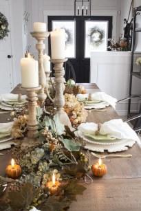 Stylish French Farmhouse Fall Table Design Ideas23