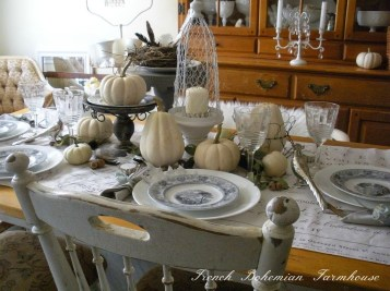 Stylish French Farmhouse Fall Table Design Ideas35