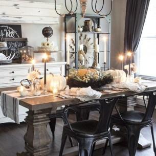 Stylish French Farmhouse Fall Table Design Ideas46
