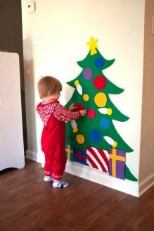 Diy Wall Christmas Tree Ideas13