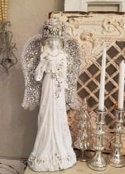 Fascinating White Vintage Christmas Ideas14
