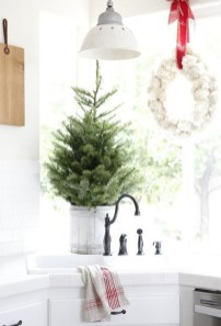 Minimalist Small Tree In A Bucket Ideas For Christmas37