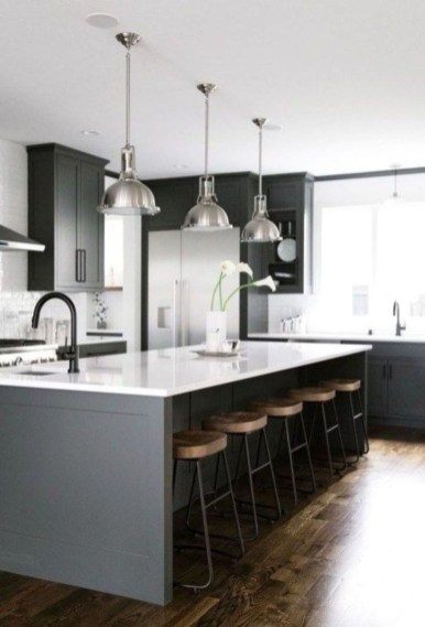 Modern Dark Grey Kitchen Design Ideas04