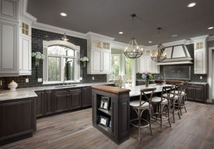 Modern Dark Grey Kitchen Design Ideas23