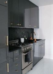 Modern Dark Grey Kitchen Design Ideas29