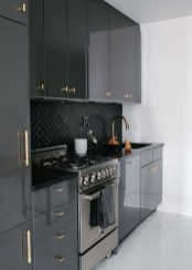 Modern Dark Grey Kitchen Design Ideas29