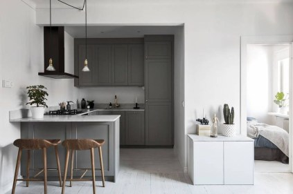 Modern Dark Grey Kitchen Design Ideas35