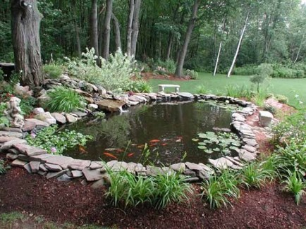 Popular Pond Garden Ideas For Beautiful Backyard07