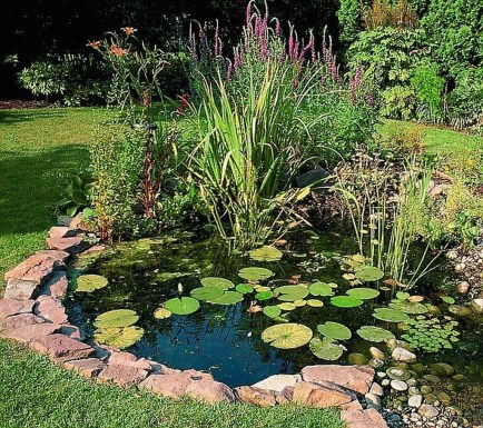 Popular Pond Garden Ideas For Beautiful Backyard08