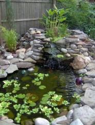 Popular Pond Garden Ideas For Beautiful Backyard38