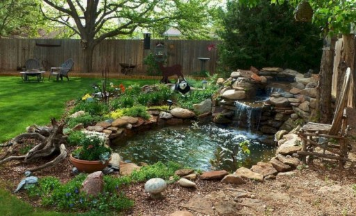 Popular Pond Garden Ideas For Beautiful Backyard39