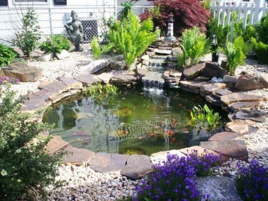Popular Pond Garden Ideas For Beautiful Backyard43