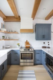 Relaxing Blue Kitchen Design Ideas For Fresh Kitchen Inspiration35