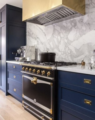 Relaxing Blue Kitchen Design Ideas For Fresh Kitchen Inspiration40