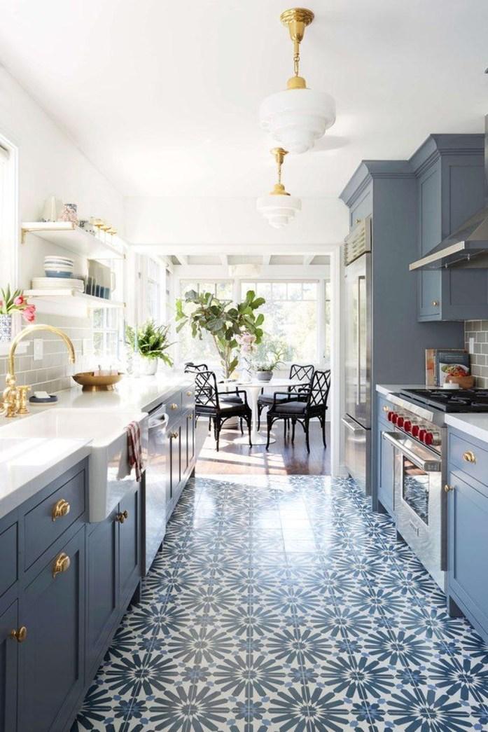 Relaxing Blue Kitchen Design Ideas For Fresh Kitchen Inspiration41