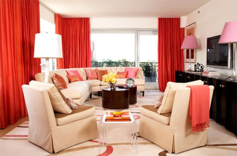 Amazing Red Apartment Living Room For Valentine01