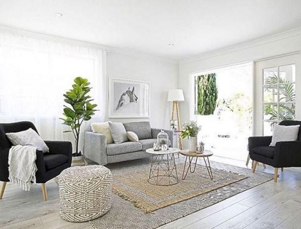 Amazing Scandinavian Livingroom Decorations Ideas40