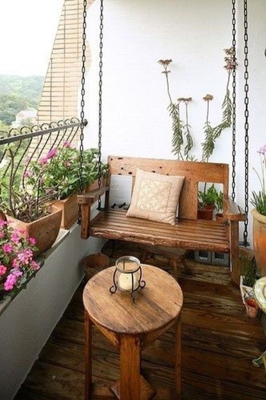 Awesome Rustic Balcony Garden27