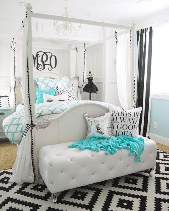 Elegant Blue Themed Bedroom Ideas19