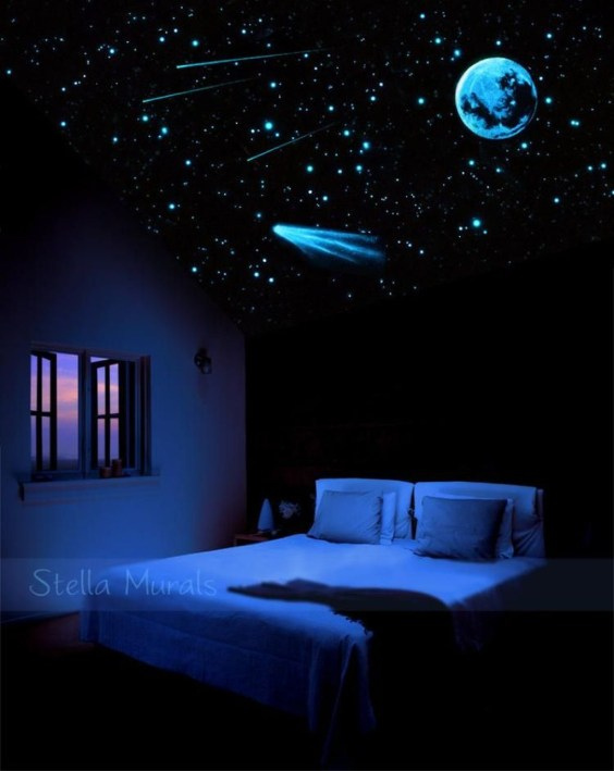 Elegant Blue Themed Bedroom Ideas20